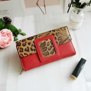 Image 3 - AFKOMST Leopard Women Wallet Long Luxury Solid Coin Purse Credit Card Holder High Quality Clutch Money Bag Walle VKP1524