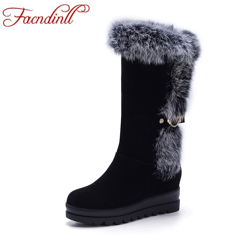ФОТО High quality winter women ankle boots flat heels warm snow boots plus size black casual shoes winter boots platform shoes woman