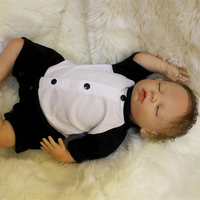 Latest new 18Inch Silicone Fashion Baby Doll For Princess Children Birthday Gift Sleeping Bebes Reborn Dolls Play House Toy