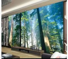 Free shopping 2015 New non-woven Dreamy forest background wall paintings wallpaper