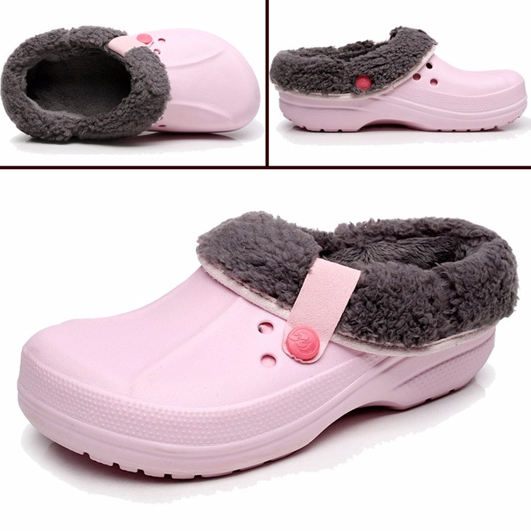 Women's Winter Clogs Men's Garden Shoes EVA Waterproof Outdoor Slippers Clogs For Men Women Clog Man Candy Color Warm 36-44 (3)