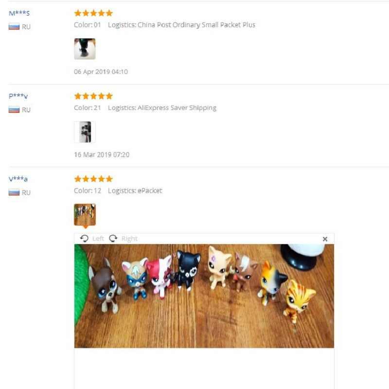 Lps tienda de mascotas perro de juguete colección antigua Lps gato juguetes Pelo Corto acción de pie figura Cosplay juguetes regalo para niños