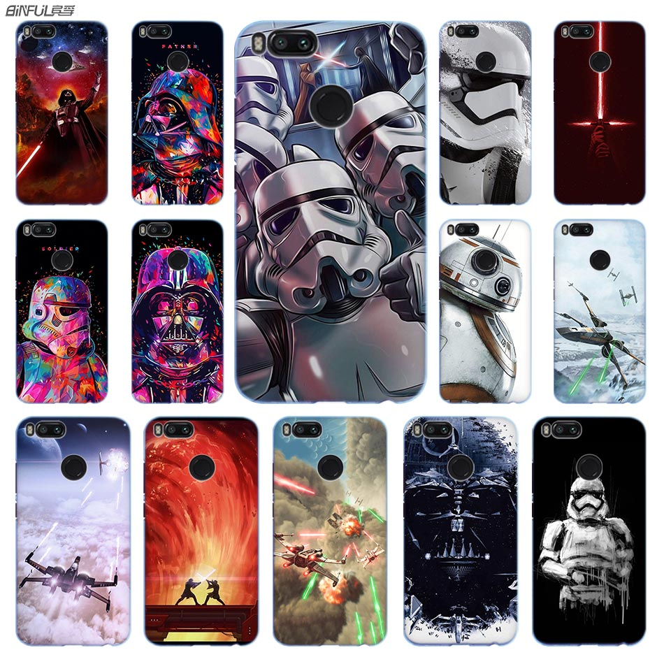 Star Wars Anime Phone <font><b>Case</b></font> PC for Xiaomi <font><b>Mi</b></font> 9 8 <font><b>8SE</b></font> 5X 6x A2 Lite Pocophone f1 Mix 2s Max 2 3 64G Cover image