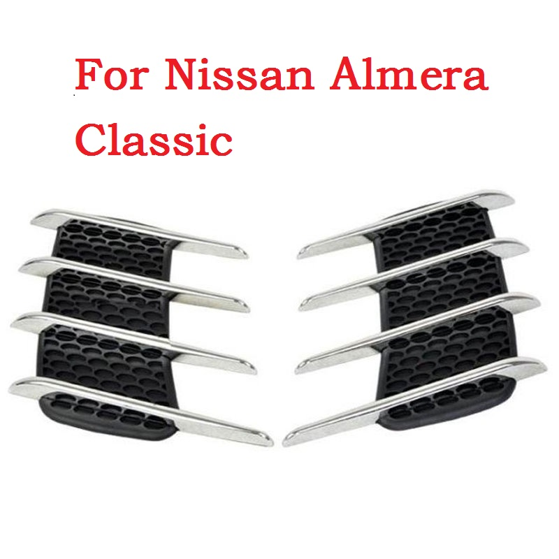 2017 car styling hark Gill Simulation vents Decorative Shark Gills Outlet Side Vents Car Stickers For Nissan Almera Classic