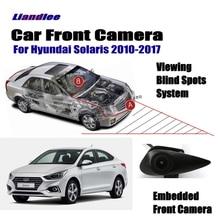 """Liandlee Автомобильная камера с логотипом переднего вида для hyundai Accent Solaris 2010- прикуриватель 4,"""" ЖК-экран монитора"""