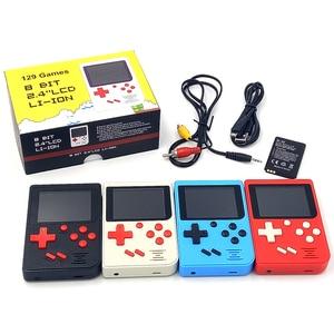 Image 2 - Für gameboy Tasche Handheld Spielkonsole 2,4 zoll 8 bit Eingebaute 129 Spiele Retro Tragbare Spiel Player Unterstützung TV Ausgang