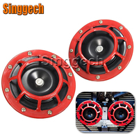 Car Red Electric Blast Tone Horn Kit For Ford Focus 2 3 1 Fiesta Mondeo Kuba Ecosport For Mini Cooper R56 R50 R53 F56 F55 R60