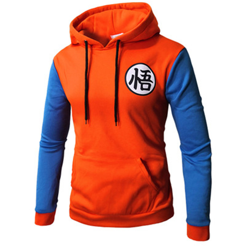 Japan Dragon Ball Men Sweatshirt 3D Cartoon Cosplay Print Hooded Hoody Unisex Cute Red Blue Patchwork Pockets Casual Hoodies