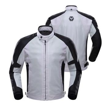 DUHAN Spring Summer MeBreathable Mesh n Motorcycle Jacket Protectors Moto Jacket Motorcycle Clothing Motorbike Jacket Armor