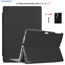 Case For Microsoft Surface Pro 6 2018 Stand Pu Leather Case For Microsoft surface pro 4 /pro 5 Laptop sleeve +Films