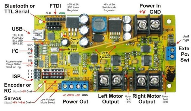 DAGU High-end T-REX control panels, robotics driver board power , Atmega328p,AVR accessories