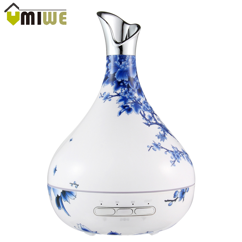 Vase Shape Aromatherapy Aroma Essential Oil Diffuser 7 Color Changing Air Humidifiers Cool Mist Humidifier for Home Office Yoga mini humidifiers portable essential oil diffuser usb port air freshener office home aromatherapy 3 color