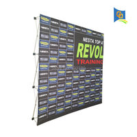7.5ft Trade Show Velcro Pop up Display Backdrop Banner Stand Tension Fabric Frame Exhibition Stand(only frame)