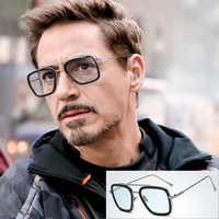 NODARE 2020 mode Avengers Tony Stark vol 006 Style lunettes De soleil hommes carré Aviation marque Design lunettes De soleil Oculos De Sol