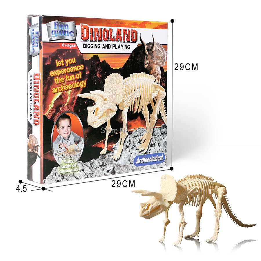 Learning & Education Biology Dinosaur Toy Deformation 4pcs Simulation Animal Dinosaur Tyrannosaurus Stegosaurus Skeleton Toy For Kid Excavation D300115