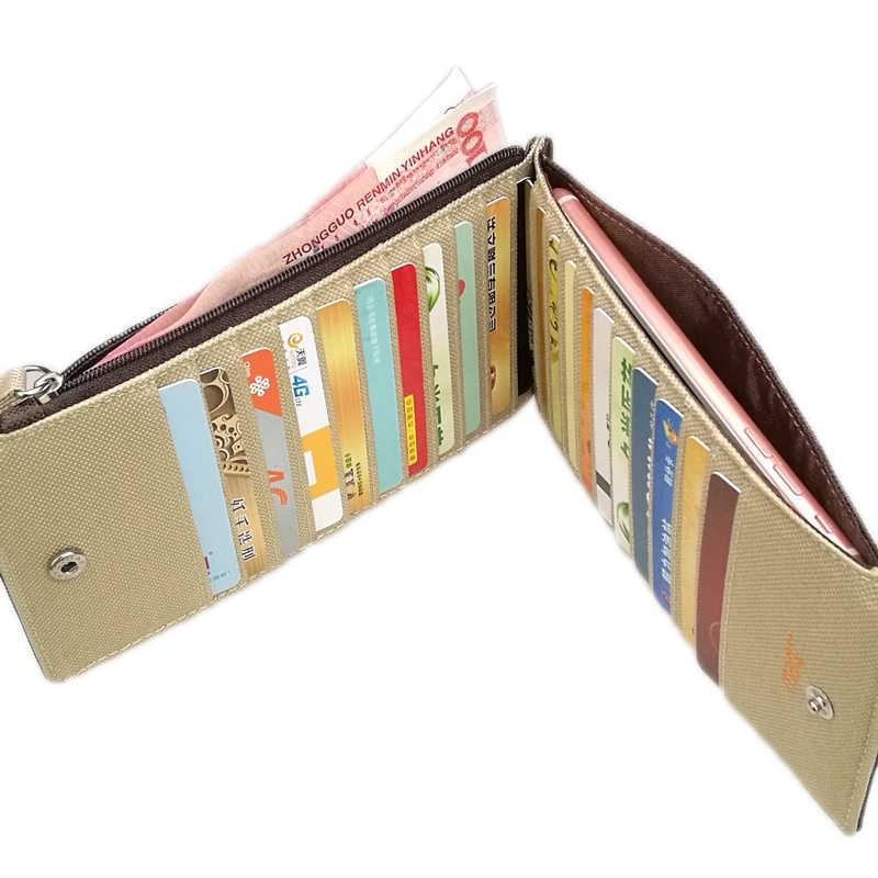 Organizador Monedero Largo embrague Billetera para Hombre Mujer Delgada Delgada de plástico Caja de la Bolsa de Tarjeta de Bolsillo Portamonedas Dinero Sobre Mano masculino