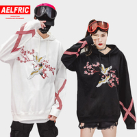 AELFRIC Flower Animal Embroidery Pullover Hoodie Men Chinese Style Casual Hoodies Sweatshirts Fashion Hip Hop Streetwear QA06