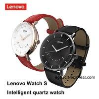 Lenovo watch S smart quartz watch Leather strap smartwatch 5ATM Waterproof Sleep Monitor Bluetooth Fitness Tracker Calls Remind