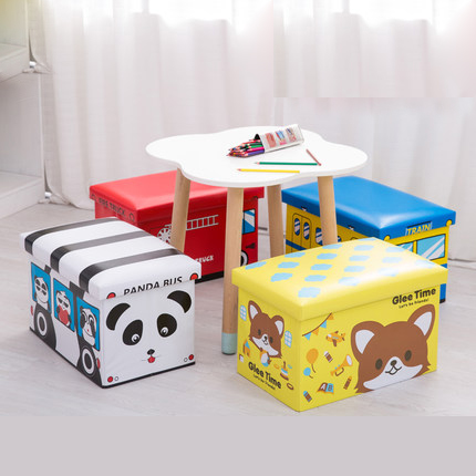 Children's toy storage box sofa stool multi-function household baby chair storage stool storage stool can sit adult american retro nostalgia sofa stool storage stool changing his shoes stool circular fashion toy storage box clothing store furni