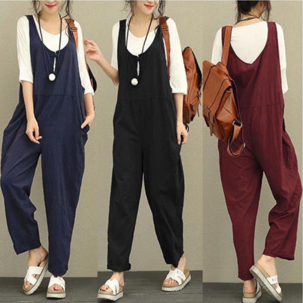 83a87156747 Fashion 2018 Simple Korean Women Elegant Pockets Suspender Skirt Corduroy  Sleeveless Overalls Skirts Vest Jumpsuit Preppy Style