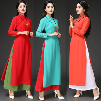 2019 new arrival fashion style AoDai women dress
