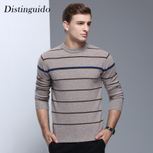 New Arrival Men's O-Neck Collar Full Sleeves 100% Wool Smart Casual Spring Winter Christmas Sweater Man MSW057