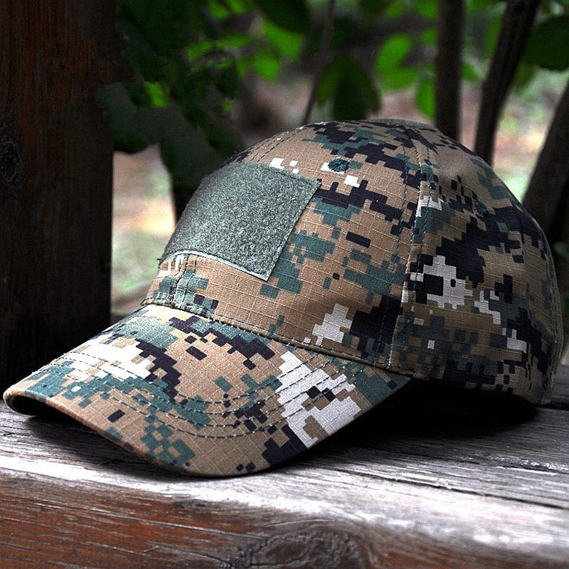 curved brim cap camouflage tactical font hat army baseball acu camo