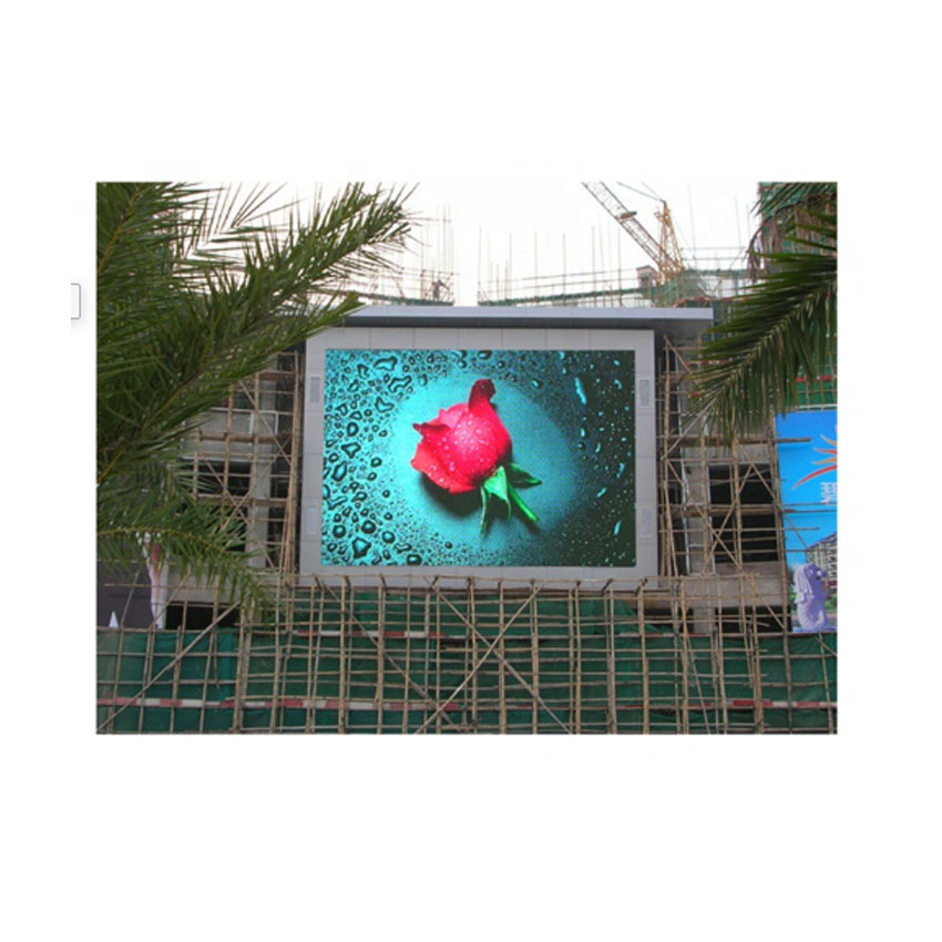 Waterproof Outdoor P6 LED Screen 576×576mm Die Casting Aluminum Cabinet, SMD2727 RGB Full Color LED Display Advertising Rental