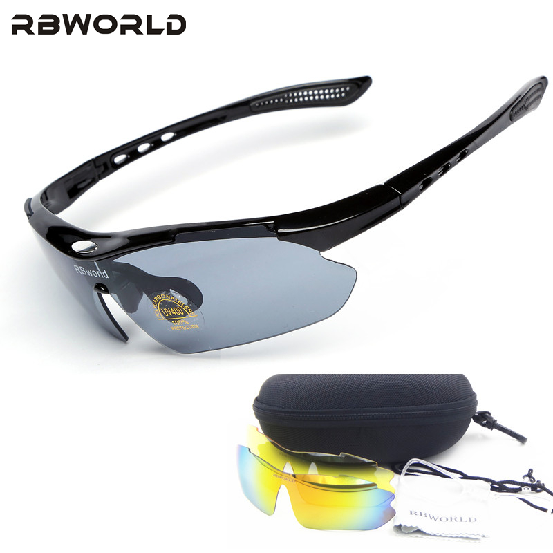 MTB Glasses Bicycle Bike UV400 3-Lenses Sports TR90 Goggles Eyewear-Accessory Outdoor