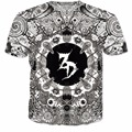 Ropa de moda Zeds Dead T-Shirt Mujeres Hombres camiseta 3d Puente Trajes camiseta harajuku tops Caracteres tumblr psicodélico de la calle