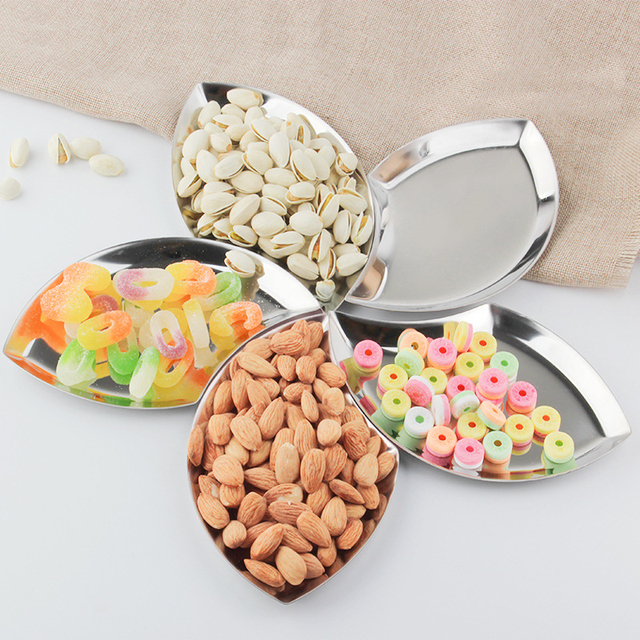 Creative Stainless Steel Crafts Candy Dishes U0026 Plates Sets Nut And Candy  Dish Gift Box Packaging