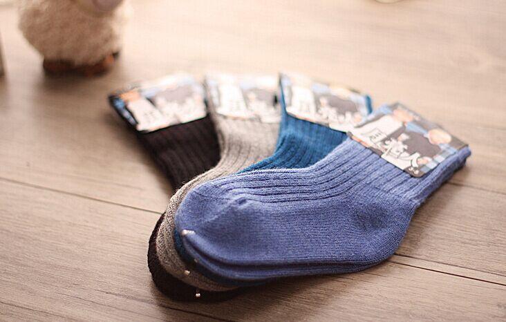 Clever 2 Paare/los Winter Kinder Dicke Socken Warme Wolle Socken Baby Socken 2-8 Y Mädchen Jungen Feste Socken, Geschickte Herstellung