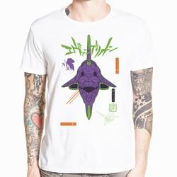 Neon Genesis Evangelion T shirt atak anioł EVA 01 02 Anime koszulka z krótkim rękawem O-Neck Tshirt dla mężczyzn HCP4486 3