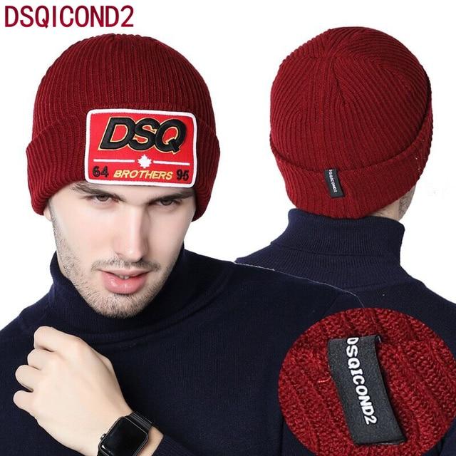 b81a9ac9680 Best brand Winter Hat DSQ Letter Men s Women s Classic Beanies Knit Bonnets  Delicate New Bonnet Gorro Invierno Skullies warmest
