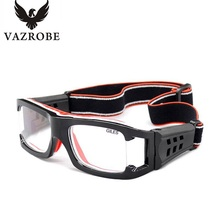 Vazrobe Wide Vision Sport Basketball Glasses Men Eye Protect Goggles Eyeglasses Frame Football Can Custom-make Prescription Lens