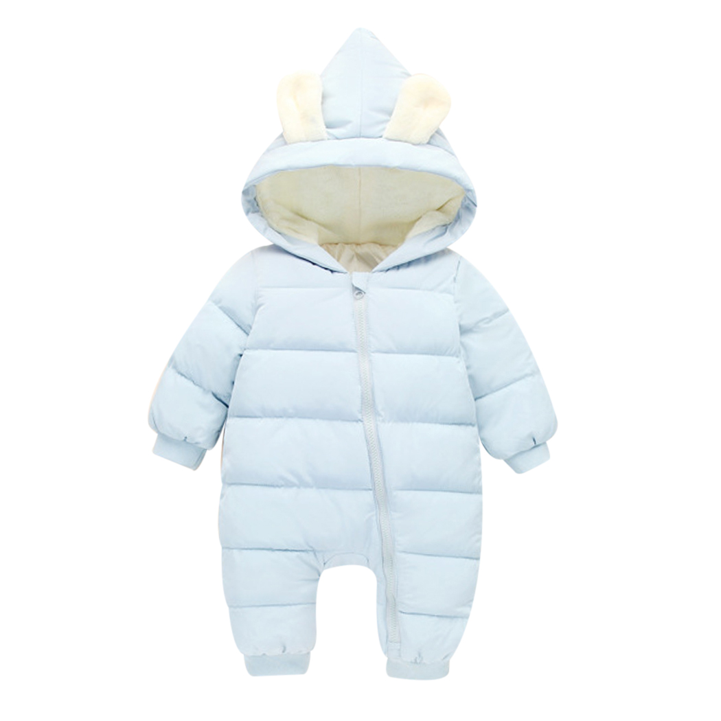 Newborn Overalls 2018 Spring Winter Warm Baby Girl Boy Snowsuit Down Baby Rompers Hoodies Clothes Kids Children Jumpsuit newborn overalls 2018 spring winter warm