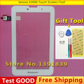 100% New Original For Lenovo A3000 A3000-H A5000 A5000E Touch Screen  External screen White + Tool Free shipping