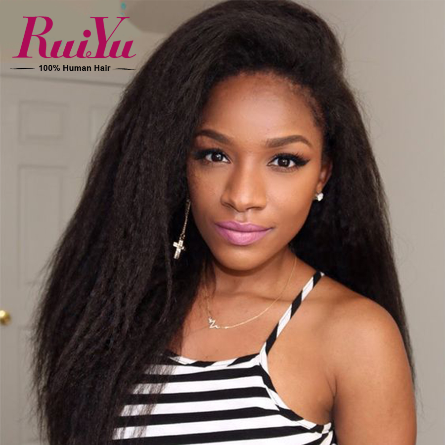 Full Lace Human Hair Wigs Brazilian Virgin Hair kinky Straight Lace Front Wigs Italian Yaki Human Hair Lace Wigs For Black Women