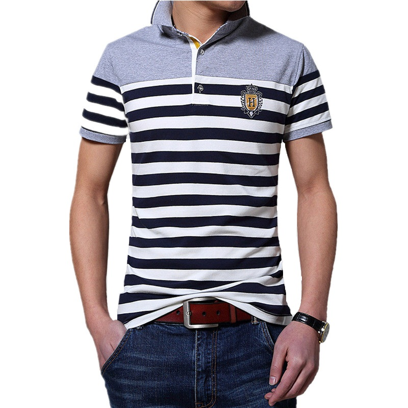 2016 Summer Style High Quality Striped polo Shirt Casual Classic Men Short Sleeve Fashion polo Shirts