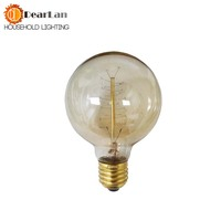 G80(Spiral Silk) Good Price,Vintage Incandescent Nice Bulb For Decoration,E27/110v 220V/40W, Antique Vintage lamp Bulb[BH 91]