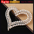 Party Dress Gold Plated Exquisite Love Heart Breastpin Imitation Pearl Ball Crystal Rhinestone Corsage Collar Clip Pin Brooch
