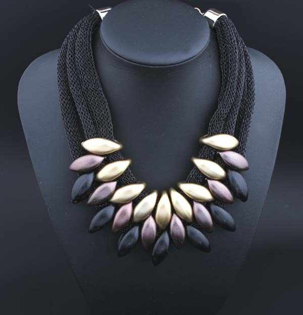 2015 Statement necklace women Geometric woven by hand newest necklaces & pendants mesh short necklace jewelry wholesale