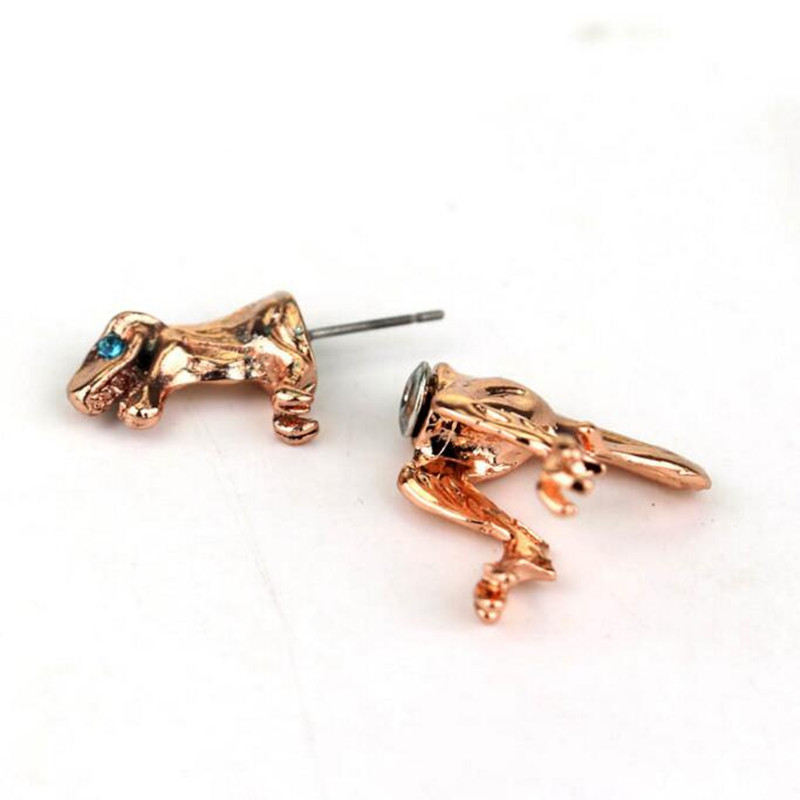 2pcs/lot Dinosaur Stud Earring Two Part Front And Back Dangle Aniaml T-REX Earrings For Women men black earrings fashion jewelry