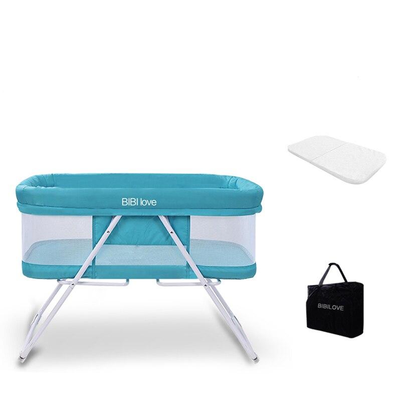 Bébé Portable berceau lit berceau pliable doux respirant bébé berceau berceau lit protecteur pour enfants voiture voyage pour enfants - 3