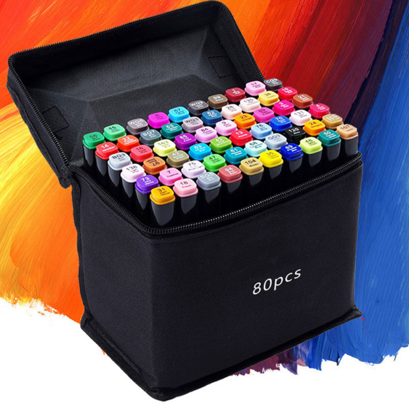 24/30/40/60/80 Colors Sketch Copic Markers Pen Alcohol Based Pen Marker Set Best For Drawing Manga Design Art Supplies School touchnew 60 colors artist dual head sketch markers for manga marker school drawing marker pen design supplies 5type