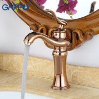GAPPO Basin Faucet Basin Rose Golden Mixers Faucet Waterfall Bath Mixer Faucets Bathroom Deck Mounted Antique Water Taps Gold