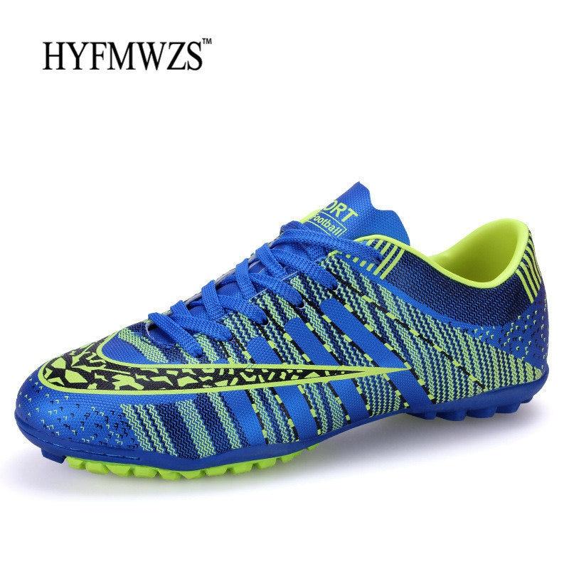 HYFMWZS 2018 Hot Sale Boys Soccer Shoes Men Superfly Original Turf Football Shoes Indoor Kids Football Boots Krasovki Babyfoot