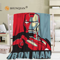 Custom Iron Man Blanket Soft DIY Picture Decoration Bedroom Size 56x80Inch,50X60Inch,40X50Inch A7.10