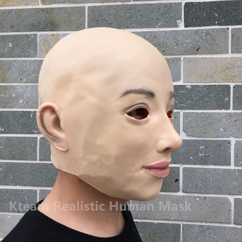 Halloween Party Cosplay Beckham Mask Costume Adult Fancy Dress Christmas Masquerade Ball Realistic Lady Mask Full Head Skin Mask in Party Masks from Home Garden