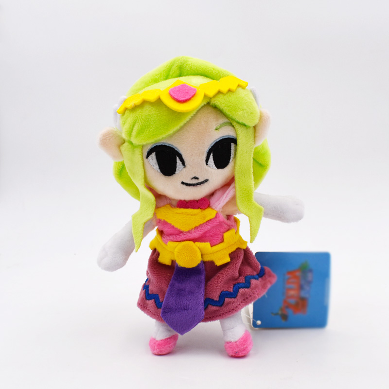 Kawaii 19cm Zelda Princess Cartoon Anime Plush Toys For Children Peluche Soft Stuffed Dolls Gift For Kids' Christmas